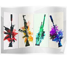CS:GO colorful weapons vol.2 HQ Poster
