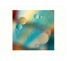 Oil and Water ~ Pastel Art Print