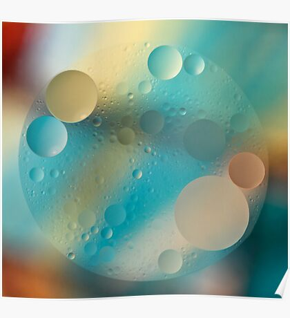 Oil and Water ~ Pastel Poster