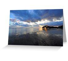 Sunrise At Nudgee Beach. Brisbane, Queensland, Australia. Greeting Card