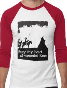 CANKPE OPI WAKPALA / WOUNDED KNEE Men's Baseball ¾ T-Shirt