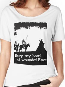 CANKPE OPI WAKPALA / WOUNDED KNEE Women's Relaxed Fit T-Shirt