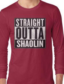 "straight outta Shaolin ""Staten Island"" Long Sleeve T-Shirt"