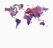World Map 20 Pink and Purple by Sharon Cummings One Piece - Long Sleeve