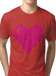 Breast Cancer Love n Support Tri-blend T-Shirt