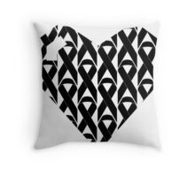 Breast Cancer Love n Support Throw Pillow
