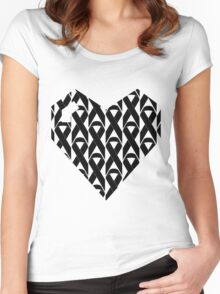 Breast Cancer Love n Support Women's Fitted Scoop T-Shirt
