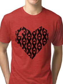 Breast Cancer Love n Support Tri-blend T-Shirt