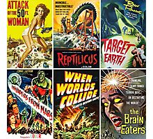 Vintage Sci-Fi Movie Poster Art Collection #1 Photographic Print