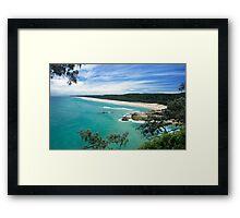 MAIN BEACH AT NORTH STRADBROKE ISLAND Framed Print