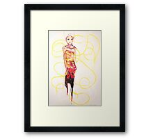dress up doll, 2009 Framed Print