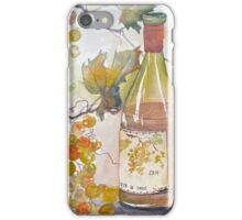 Wine and grapes iPhone Case/Skin