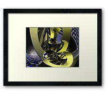 The broken planet Framed Print