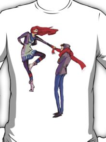 Pull me up - Wintery Romance - Antagonistic - Big red bits - Aw yeah T-Shirt