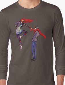 Pull me up - Wintery Romance - Antagonistic - Big red bits - Aw yeah Long Sleeve T-Shirt