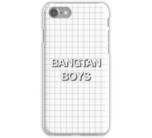 Bangtan Boys Grid White iPhone Case/Skin