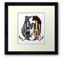 Arya and Gendry - ASOIAF Framed Print