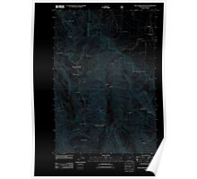 USGS Topo Map Oregon Chief Joseph Mountain 20110824 TM Inverted Poster