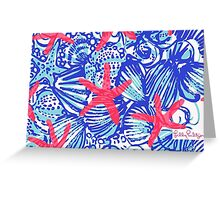 "Lilly Pulitzer Print ""She She Shells"" Greeting Card"