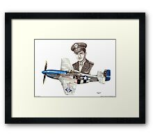 """The Last WWII Ace - Major Alden Rigby"" Framed Print"