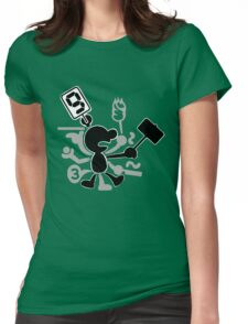 Mr. Game & Watch Womens Fitted T-Shirt