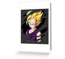 dragon ball z kid gohan super saiyan 2 anime manga shirt Greeting Card