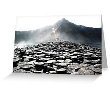 Giants Causeway Rocks Greeting Card