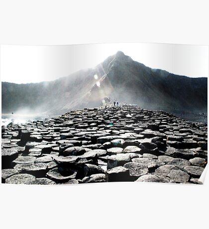 Giants Causeway Rocks Poster