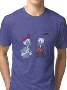 Accented Donald and Daisy  Tri-blend T-Shirt