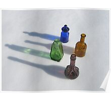 Colored Bottles Poster