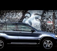 BMW Street Art by Russell Charters