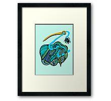 lio azul Framed Print