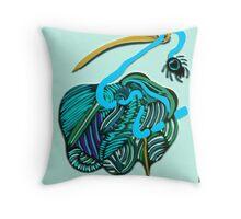lio azul Throw Pillow