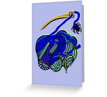 lio añil Greeting Card