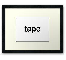 tape Framed Print
