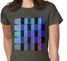 Vaporwave-TECHNOLOGY Womens Fitted T-Shirt