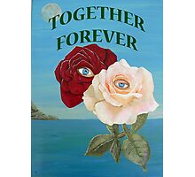 Roses, Together Forever Photographic Print
