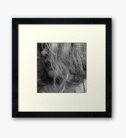 Through The Waves Framed Print
