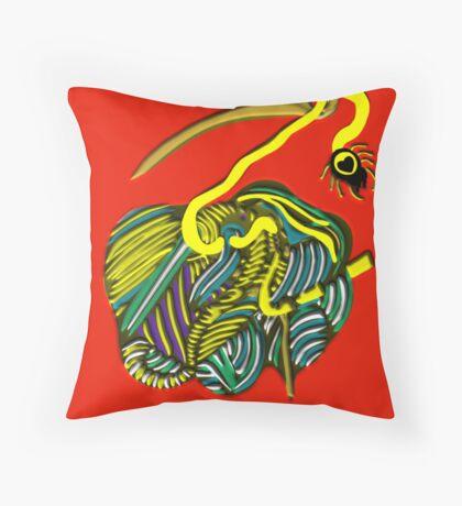 lio rojo Throw Pillow