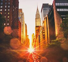 New York City Sunset by Vivienne Gucwa