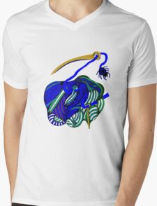 lio indigo Mens V-Neck T-Shirt
