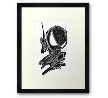 black spider! Framed Print