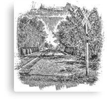 Railroad Bridge Over the Yahara Canvas Print
