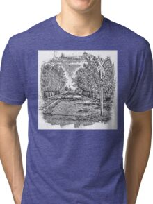 Railroad Bridge Over the Yahara Tri-blend T-Shirt