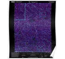 USGS Topo Map Oregon Oregon Caves 280999 1996 24000 Inverted Poster