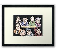 Grumpy old Men Framed Print