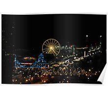 Navy Pier at Night Poster