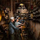 Steampunk - Controls on the USS Washington 1920 by Mike  Savad