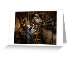 Steampunk - Controls on the USS Washington 1920 Greeting Card