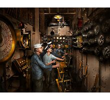 Steampunk - Controls on the USS Washington 1920 Photographic Print